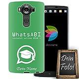 dessana Abi Motto Coque de protection en silicone TPU pour LG V10 avec texte personnalisé