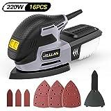 Jellas Levigatrice 13000 RPM, Levigatrice Mouse Multifunzioni 220W con Scatola Raccolta di...