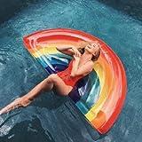 BEACHTOY Matelas Gonflable Géant Arc en Ciel Rainbow 180 x 90 cm Taille XL