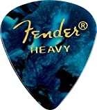 Fender 351 Shape Premium Picks (12 Pack) for electric guitar, acoustic guitar, mandolin, and bass, 351 - Heavy, Turquoise (Ocean)