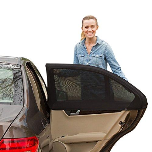 Xcellent Global Pare-soleil de voiture, Protection solaire anti UV pour fenêtres latérales, protège les bébés, enfants, animaux du soleil, 110*51cm AT028M