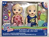 Baby Alive Super Snacks Snackin Twins Lily Girl Doll and Luke Boy Doll Blonde NEW With Accessories