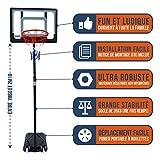 BUMBER Panier de Basket sur Pied Orlando Réglable en Hauteur de 1m60 à 2m10,...