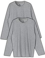 Ballot ロング Tシャツ メンズ 無地 長袖 2枚組