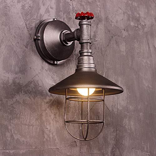 LifeX Lampada da parete industriale Retro lampada da parete a vapore Loft Loft Steampunk Illuminazione da parete vuota ristorante Cafe Bar semplice Edison E27 Base applique da parete per corridoio cam