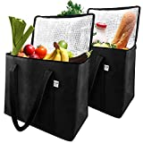 Insulated Grocery Shopping Bags Reusable X-Large Premium Quality Cooler Bag Set with Reinforced Long...