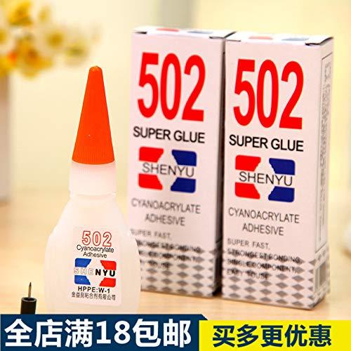 LSGDSXMIY Home Office 502 Lijm Instant Sterke Sticky Schoenen Kunststof Metaal Leer Glas Keramisch Plaatwerk Universele Lijm