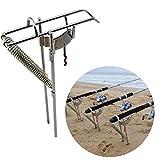 Fsskgx Auto Fishing Rod Holder, Stainless Spring Tip-Up Hook Setter Folding Holder