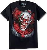 Liquid Blue unisex adult Fantasy Scary Clown Short Sleeve T-shirt T Shirt, Black, XX-Large US