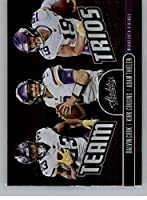 2019 Absolute Team Trios Football #14 Adam Thielen/Dalvin Cook/Kirk Cousins Minnesota Vikings Official NFL Trading Card From Panini America