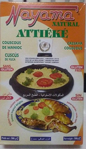 Nayama Attieke - Gluten Free - Cassava Couscous 500 grams (17.6 Ounces)
