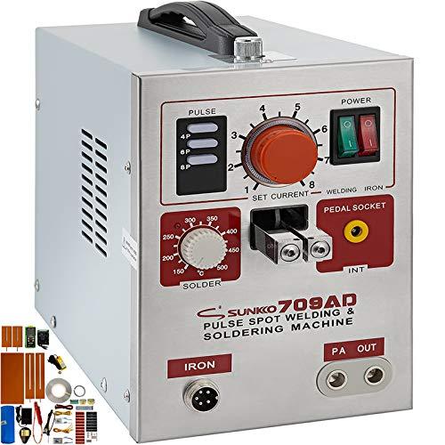 Mophorn 709AD Pulse Spot Welder 0.3mm Battery Welding Machine 110V Battery Spot Welder & Battery Tester Soldering Station Portable Pulse Welding Machine For Battery Pack 18650 14500