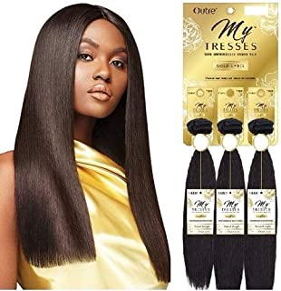 Outre My Tresses 100% Unprocessed Human Hair Gold Label Triple Bundle Pack NATURAL STRAIGHT 14