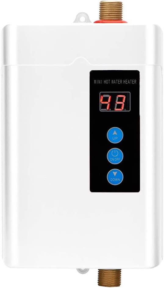Instant Over item handling ☆ Water Heater Mini LCD Touch-Screen Tan Display Electric Sales of SALE items from new works