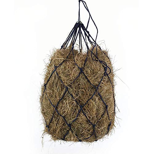 B BLOOMOAK Horse Hay Net 40' Slow Feeder Hay Bag Equestrian Feeding Supplies (Black) (1 pcs)