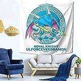 N-L Digimon Chibi ulforce veedramon Home Art Deco Tapestry Bedroom Living Room Tapestry Outdoor Picnic Blanket Beach Blanket60x40 in(152x102cm)