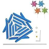 Exing Wind Cilindro de Windmühlen Pin Wheel Wind Parte Wind Ruedas, Plastic...