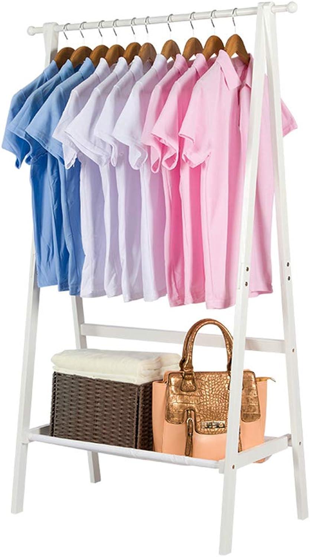 Wall Coat Racks Coat Rack Foldable Hanger Floor Clothes Rack Storage Rack Multi-Functional Bedroom Hanger Best Gift (color   White, Size   146  46  76cm)