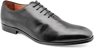 tresmode Men's Black Wholecut Handpainted Oxfords