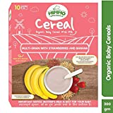 MIMMO ORGANICS Organic Certified Food Instant Multi-Grain Cereal with Strawberry and Banana|