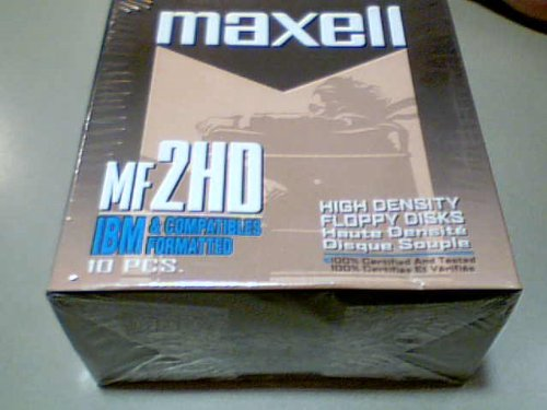 "Maxwell Corporation Maxwell Mf2hd High Density Floppy Disks Blister Box Package---ibm & Compatibles Formatted-features Anti-mold Media, Dual Interlocking Flex Shutter, Self Cleaning Liner, Pre-formatted for All IBM & IBM Compatible 3.5"" 2hd Drive Systems---specification-double Sided, Highdensity, 1.44mbcapacity, Formatted, 2.0mb Capacity, Unformatted, 135 Tracks Per Inch (For Older Pc's with Hd Density Drive)"