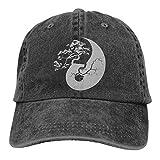 Yuanmeiju Baseball Kappe for Men and Women, Bonsai Tree On The Yin Yang Symbol-3 Mens Cotton Adjustable Denim Cap Hat