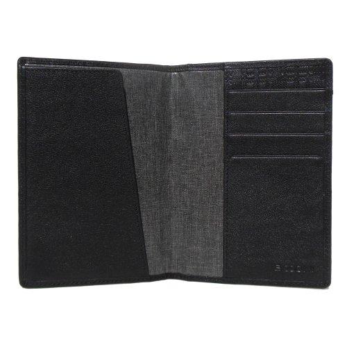 Boconi Men's Grant RFID Passport Case in Black Leather w/Gray