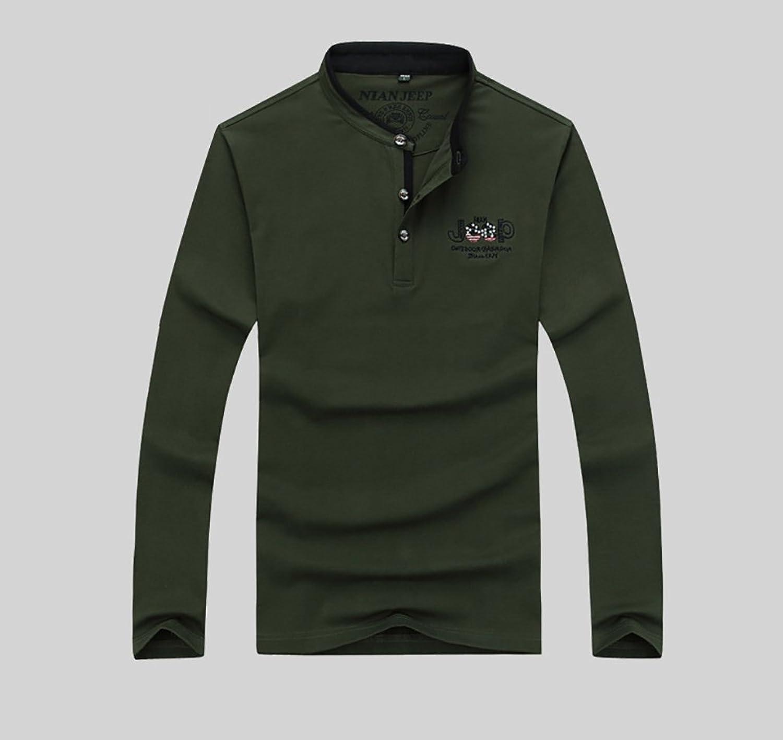 5acf13dd2e8b Men's T Shirts Classic Lapel Tops Long-Sleeved Long-Sleeved Long-Sleeved  Casual Solid colord Men's Clothing Fashion Cotton Comfortable Breathable  Shirt ...