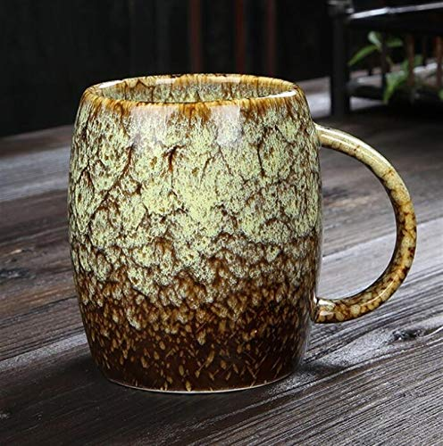 NBKLSD Taza Creativa Taza de cerámica Simple de Gran Capacidad Pareja de Taza de café de Estilo japonés Taza de Consumo horneado 460ml (Color : C)