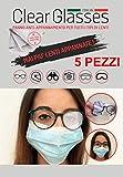 Offerta 5 Panni Anti-Appannamento per Tutti I Tipi di Lenti Clear Glasses Occhiali Casco Maschere