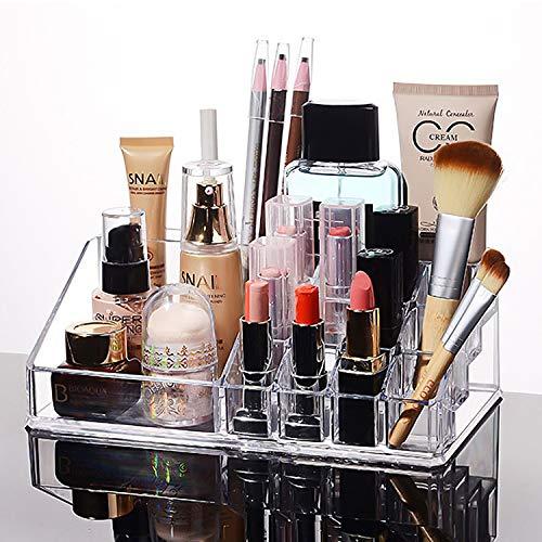MOOKLIN ROAM transparent Acryl Kosmetik Organizer Lippenstifthalter Display Holder Kosmetik Schminkaufbewahrung Home Beauty-Organizer für Dresser, Schlafzimmer, Badezimmer
