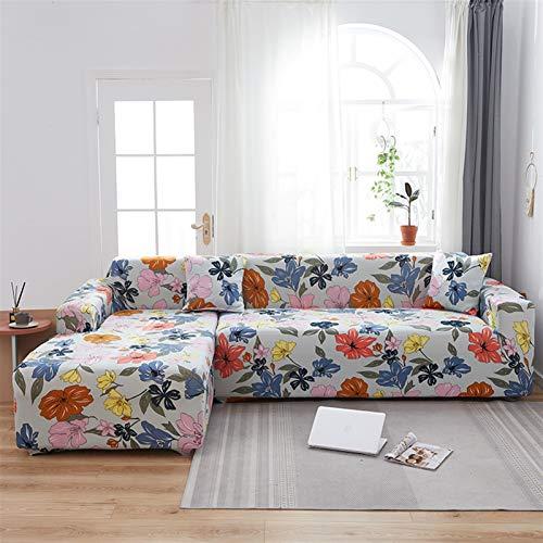 Cubiertas de sofá de Longue de Chaise para Sala de Estar Necesitan Comprar 2 Piezas de Cubierta de Cobertura elástica de sofá Estiramiento L Forma de Esquina Sofá Sofá Funda