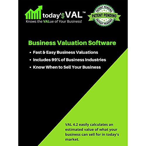 today'$ VAL - Business Valuation Software - Fast and Easy Valuations For Business Owners, Entrepreneurs, Advisors – 80+ Industries Included – 3 Valuation Reports with Training Course - USB Format