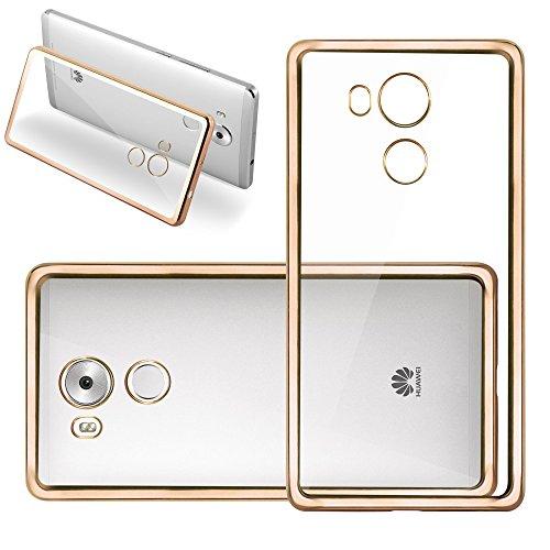 Cadorabo Funda para Huawei Mate 8 Funda de Silicona TPU Cromo en Cromo Oro – Cubierta Protectora Super Delgada e Flexible con Antichoque – Gel Ligera