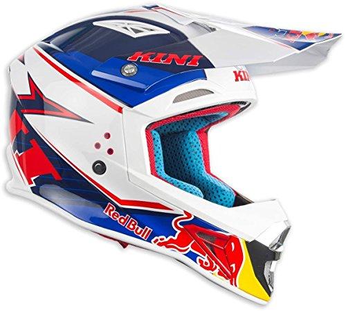 Kini Red Bull Competition Helmet V1.7 – Motorcross Helm, Enduro, MTB, Off-Road, Neck-Brace Optimiert, EPS-Innnenschale, Waschbare Polster (XXL/64-65cm)