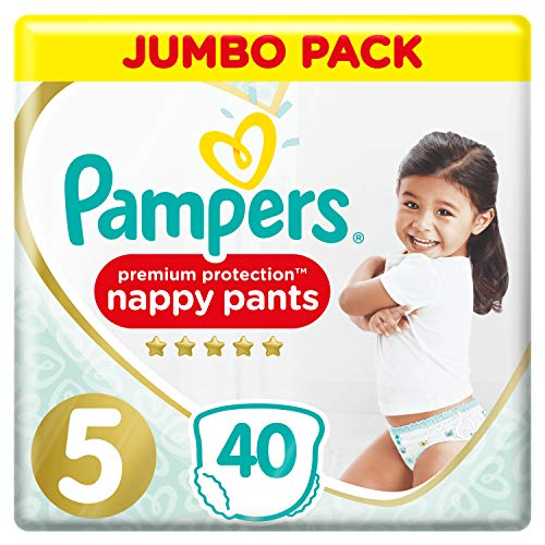 Pampers Premium Protection Pants Größe 5, 2 x 40 Windeln