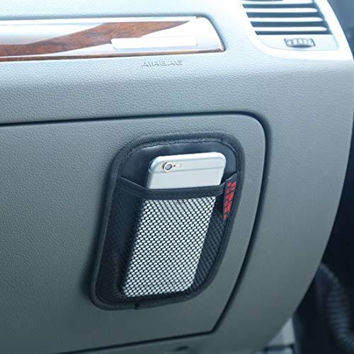 XUAILI Auto Organizer Opbergdoos Auto Car-Styling Zakken Lijm Opslag Netto Telefoon Houder Pocket Stickers, Auto Stoel Opbergtas (Maat: 16.9 * 12.4 * 0.4cm)
