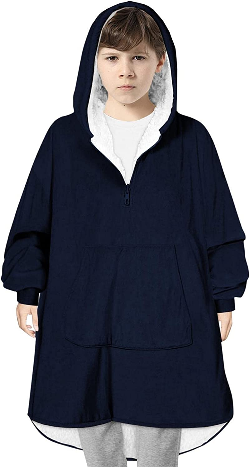 Ikevan Blanket for Child Hoodie Wearable Sherp Clearance SALE Limited Max 85% OFF time Oversized