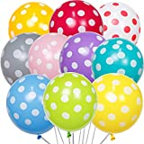 PartyWoo Globos Lunares, Globos de Helio 50 Piezas Helio Globos 12 Pulgadas Globos con Lunares Puntos Globos Globo de Puntos, Globos de Colores para Cumpleaños, Fiesta Galinha Pintadinha, Fiesta Bebe
