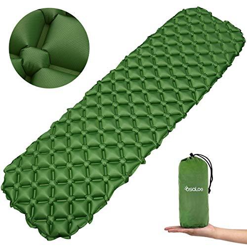 Osaloe Esterilla Acampada Camping 70D Colchoneta Inflable Impermeable para Acampar para Actividades al Aire Libre (Verde)