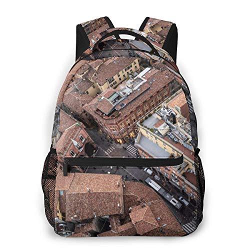Multifunctional Casual Bapa,Fashion Trend Knapsa,Cute Bapa11.5' X 16' X 8'-Old Cityold Architecturecityviewstreet