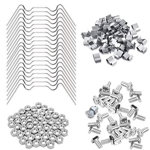 Gewächshaus Set enthält 50 Stück Edelstahl-Gewächshaus-Verglasungs-Clips mit Draht-Clips, 50 Stück Z-Überlappungs-Clips und 50 Stück Aluminium-Gewächshaus-Muttern und -schrauben