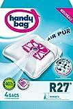 Handy Bag - R27 - 4 Sacs Aspirateurs, pour Aspirateurs Rowenta, Fermeture...