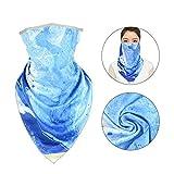 Aimsie Pañuelo multifunción bandana azul Ocean tema azul tocado cinta para la cabeza de la moto de secado rápido protección solar para moto correr senderismo
