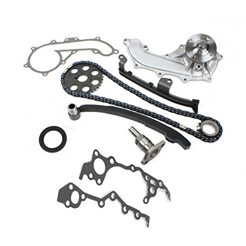TK10130WP New (102-links) Timing Chain Kit & Water Pump Set Compatible with 95-04 Toyota Tacoma 2.4L DOHC 2RZ-FE 2RZFE Engine
