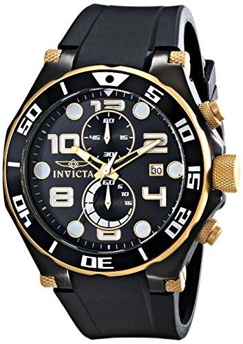 Invicta 15396 - Reloj para Hombres, Correa de Goma Color Negro