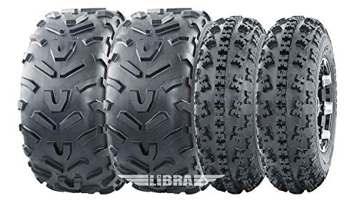 Set 4 WANDA ATV tires 23x7-10 & 22x11-10 96-09 Polaris Trail Blazer 250 330 400