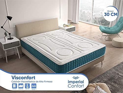 Imperial Confort VisConfort - Colchón Viscoelástico efecto memoria - Transpirable y doble cara (invierno/verano) - Grosor 30 cm -135x200