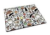 Studio Ghibli Doodle Motif Tapis de souris en caoutchouc Tapis de souris de jeu geek Anime...