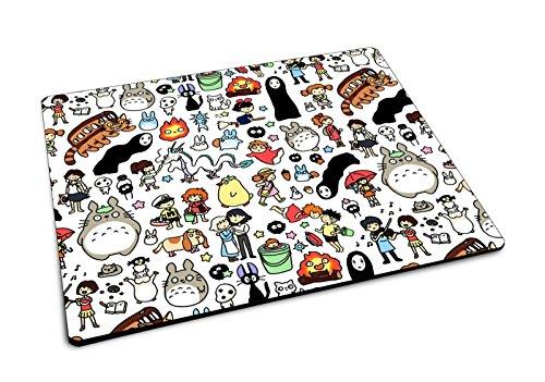Studio Ghibli Doodle patrón alfombrilla de ratón de goma alfombrilla de ratón para videojuegos Geek Anime Totoro